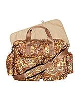 Trend Lab Paisley Brown Deluxe Duffle Diaper Bag, Paisley Brown