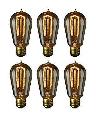 Bulbrite Set of 6 Nostalgic Edison Hairpin-Style Bulbs