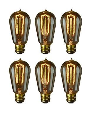 Bulbrite Set of 6 Nostalgic Edison Hairpin-Style Bulbs