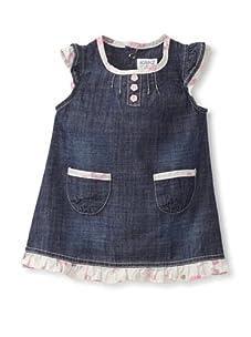 KANZ Baby Ruffle-Trimmed Dress (Denim)
