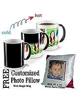 TIA Magic Photo Mug, Personalised Mug with Photo Print, Coffee Mug With Photo Print, Birthday Mug, Color Changing Mug