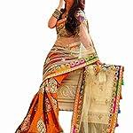 Latest Designer Saree Net with Lathagi Look