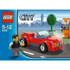 レゴシティ レゴの町から赤いスポーツカー#8402の外箱写真