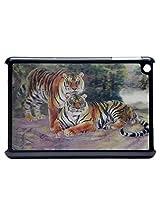 3D Effect Tiger Couple Picture Hard Back Case Cover For Ipad Mini /Ipad Mini 2