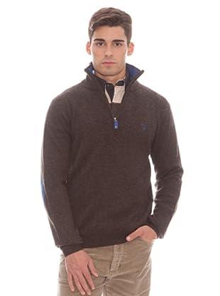 Gant Jersey Cremallera (marrón)