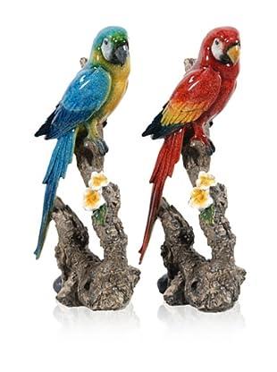 Set Of 2 Parrots (Multi)