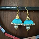 Blue Traditional Jhumki Earring