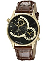 August Steiner Men's AS8010YGBR Analog Display Japanese Quartz Brown Watch