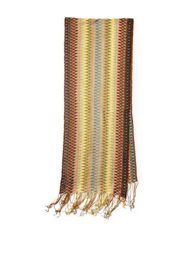 Missoni Women's Multi Zigzag Scarf, Yellow/Brown