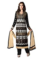 Inddus Exclusive Women Black Colored Unstitched Salwar Kameez