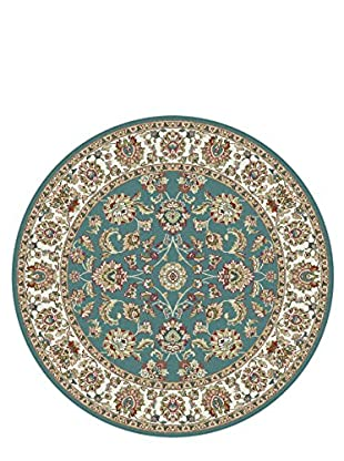 Universal Rugs Capri Traditional Area Rug, Blue, 6' Round