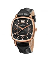 Grovana Big Date Black Dial Rose Gold-Tone Men'S Watch - Gro1719-1567
