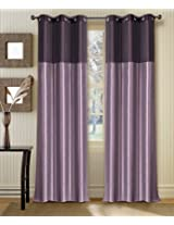 Deco Window Curtain Tripti Grape Wine Mix 9 ft Long Door