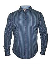 Levis Casual Blue Stripes Shirt