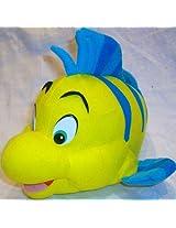 "10"" X 7"", Disney Little Mermaid, Flounder Plush Stuffed Doll Toy"