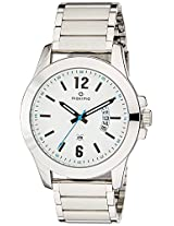 Maxima Analog White Dial Men's Watch - 35930CAGI