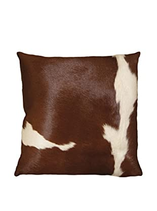 Natural Brand Torino Cowhide Pillow, Brown/White