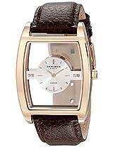 Akribos XXIV Men's AKR432RG Swiss Quartz Diamond Floating Silver Dial Watch