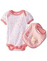 Bon Bebe Baby Girls Newborn Love Bib And Bodysuit Set By Bon Bebe