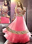 Generic Women Brasso Salwar Suit Dress Material (Cvsg-14781 _Pink And Multi-Coloured _Free Size)