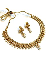 Divinique Jewelry Copper & Crystal Necklace Set For Women