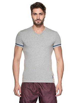 Yamamay Camiseta Manga Corta Cuello V (Gris Mezcla)