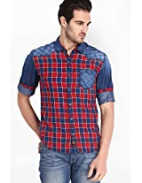 Checks Red Casual Shirt Locomotive
