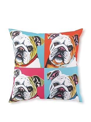 Woofhol Bulldog Pillow