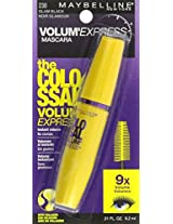 2 Pack Maybelline New York The Colossal Volum' Express Washable Mascara, Glam Black 230, 0.31 Fluid Ounce