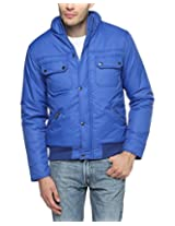 Campus Sutra Royal Blue Mens Jacket (AW15_JK_M_P7_RB_M)