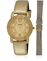 Fl-113-Gd01 Gold/Yellow Analog Watch Flud