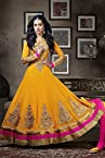 Shraddha Kapoor Yellow Anarkali Suit -LFSUKHW1119