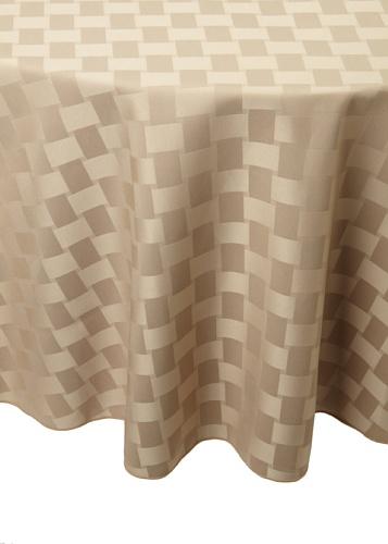 Bardwil Reflections Round Tablecloth (Khaki)