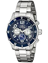Invicta Men's 12911 Pro Diver Chronograph Dark Blue Textured Dial Stainless Steel Watch