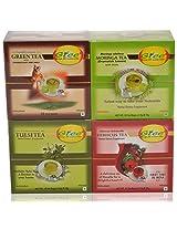 GTEE Green Tea Bags - Ginseng & Hibiscus Tea Bags & Moringa Tea Bags & Tulsi Tea Bags (10 Tea Bags X 4 PACKS)