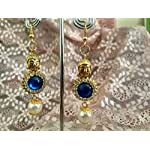 Multi Base MetalBuddha Earring Rhinestone Fashion Dangle & Drop Earring
