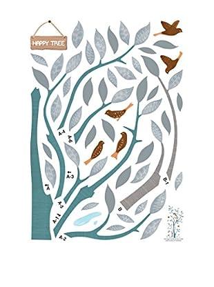 Ambiance Sticker Wandtattoo Happy Tree And Birds