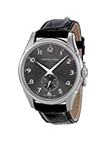 Hamilton Jazzmaster Grey Dial Black Leather Strap Watch - Hml-H38411783