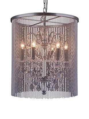 Urban Lights Brooklyn 6-Light Pendant Lamp, Mocha Brown/Royal Cut Crystal