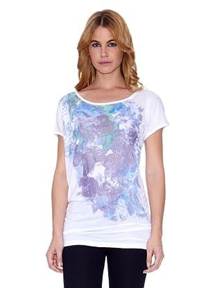 Salsa Camiseta Jamaica Regular (Blanco / Violeta)