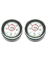 Desmond 2 x 20mm x 11.8mm Compass / Disc Bubble Spirit Level Round Circular Circle