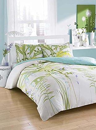 City Scene Mixed Floral Reversible Comforter/Sham Set