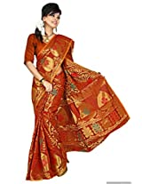 Mimosa Net Others Saree with Blouse Piece (3000-111-Orng _Orange)
