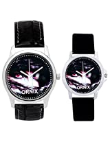 ORNIX Multi-Colour Dial Analogue Watch for Unisex (ORNIX-PAIR-103)