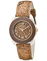 Sprout Sprout Unisex St/1049Bnivck Cork Resin Case Cork Strap Watch - St/1049Bnivck