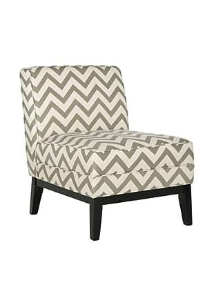 Safavieh Armond Chair, Grey/White Zig Zag