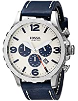 Fossil End-of-season Nate Analog Beige Dial Men's Watch -JR1480
