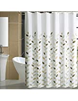 Lucky Leaves Waterproof Polyester Thicker Shower Curtain