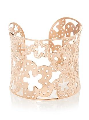 Chloe Collection By Liv Oliver Rose Wide Cuff Clover Bracelet