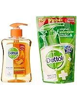 Dettol Re-Energize Handwash - 250 ml with Free Dettol Liquid Soap - 185 ml Pouch